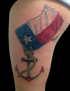 tx flag & anchor